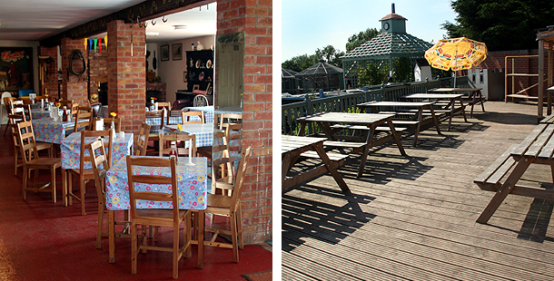 The Hayrack Cafe, a welcoming hub, indoor our outdoor