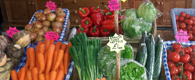 Lots of local fresh fruit, veg and produce available from our farm shop!